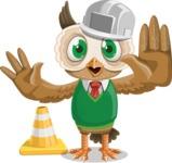 Owl Teacher Cartoon Vector Character AKA Professor CleverHoot - Under Construction 1