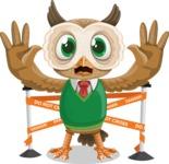 Owl Teacher Cartoon Vector Character AKA Professor CleverHoot - Under Construction 2