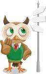 Owl Teacher Cartoon Vector Character AKA Professor CleverHoot - Crossroad