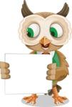 Owl Teacher Cartoon Vector Character AKA Professor CleverHoot - Sign 3
