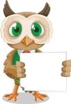 Owl Teacher Cartoon Vector Character AKA Professor CleverHoot - Sign 4