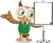 Owl Teacher Cartoon Vector Character AKA Professor CleverHoot - Presentation 1