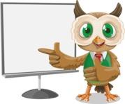 Owl Teacher Cartoon Vector Character AKA Professor CleverHoot - Presentation 2