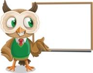 Owl Teacher Cartoon Vector Character AKA Professor CleverHoot - Presentation 3