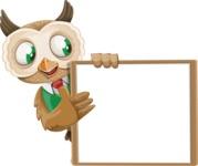 Owl Teacher Cartoon Vector Character AKA Professor CleverHoot - Presentation 4