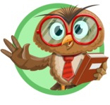 Owl with a Tie Cartoon Vector Character AKA Owlbert Witty - Shape 3