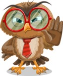 Owl with a Tie Cartoon Vector Character AKA Owlbert Witty - Stop 2