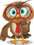 Owl with a Tie Cartoon Vector Character AKA Owlbert Witty - Oops