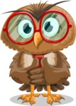 Owl with a Tie Cartoon Vector Character AKA Owlbert Witty - Patient