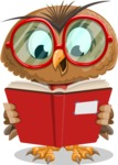 Owl with a Tie Cartoon Vector Character AKA Owlbert Witty - Book 1
