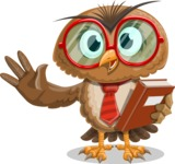 Owl with a Tie Cartoon Vector Character AKA Owlbert Witty - Book 3