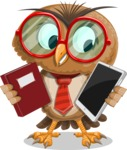 Owl with a Tie Cartoon Vector Character AKA Owlbert Witty - Book and iPad