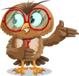 Owl with a Tie Cartoon Vector Character AKA Owlbert Witty - Showcase