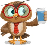 Owl with a Tie Cartoon Vector Character AKA Owlbert Witty - iPhone
