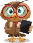 Owl with a Tie Cartoon Vector Character AKA Owlbert Witty - iPad 1