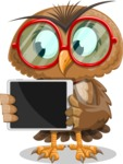 Owl with a Tie Cartoon Vector Character AKA Owlbert Witty - iPad 2