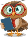 Owl with a Tie Cartoon Vector Character AKA Owlbert Witty - Notepad 2