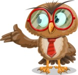 Owl with a Tie Cartoon Vector Character AKA Owlbert Witty - Showcase 2