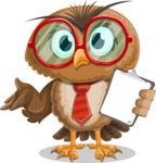 Owl with a Tie Cartoon Vector Character AKA Owlbert Witty - Notepad 4