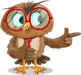 Owl with a Tie Cartoon Vector Character AKA Owlbert Witty - Show