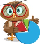 Owl with a Tie Cartoon Vector Character AKA Owlbert Witty - Chart