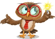 Owl with a Tie Cartoon Vector Character AKA Owlbert Witty - Idea 1