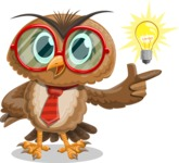 Owl with a Tie Cartoon Vector Character AKA Owlbert Witty - Idea 2