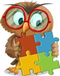 Owl with a Tie Cartoon Vector Character AKA Owlbert Witty - Puzzle
