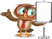 Owl with a Tie Cartoon Vector Character AKA Owlbert Witty - Presentation 1