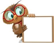 Owl with a Tie Cartoon Vector Character AKA Owlbert Witty - Presentation 4
