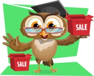 vector owl character illustration ultimate pack - Shape 12