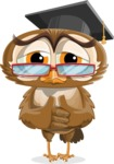 vector owl character illustration ultimate pack - Sad