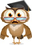 vector owl character illustration ultimate pack - Shocked