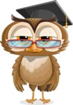 vector owl character illustration ultimate pack - Bored