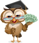 vector owl character illustration ultimate pack - Show me the Money