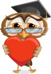 vector owl character illustration ultimate pack - Love