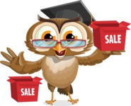 vector owl character illustration ultimate pack - Sale