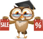 vector owl character illustration ultimate pack - Sale 2