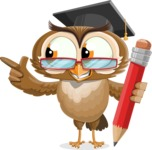 vector owl character illustration ultimate pack - Pencil