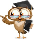 vector owl character illustration ultimate pack - iPad 3