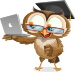 vector owl character illustration ultimate pack - Laptop 1