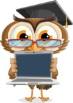 vector owl character illustration ultimate pack - Laptop 2
