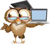 vector owl character illustration ultimate pack - Laptop 3