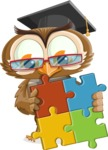 vector owl character illustration ultimate pack - Puzzle