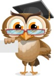 vector owl character illustration ultimate pack - Sign 1