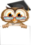 vector owl character illustration ultimate pack - Sign 6