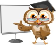 vector owl character illustration ultimate pack - Presentation 2