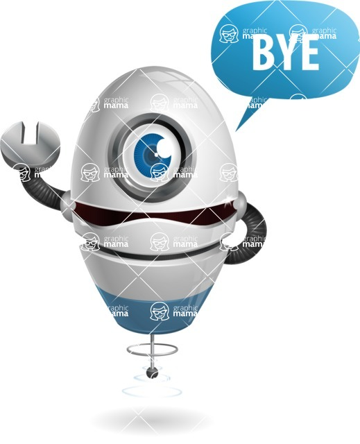 cyclop vector character by GraphicMama - Goodbye