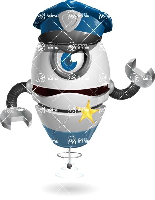 cyclop vector character by GraphicMama - Policeman