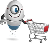 cyclop vector character by GraphicMama - Shopping Cart